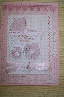 Baby card with Marianne Design goodies