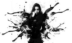 Black Splash   Model: Valeria  © Ronny Yax · Rays Arts