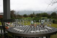 Frog's Leap Winery (Napa, CA) - sipping wine underneath their heated patio in the middle of winter :)
