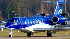 Gulfstream G650ER * Azerbaijan Government * Take-Off at Bern Airport