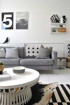 Black, White & Gray Space with a Cozy Vibe and Lots of Texture