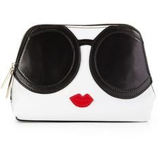Alice + Olivia Stacey Face Cosmetic Bag found on Polyvore