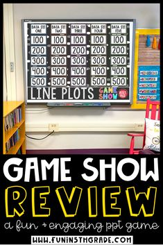 Line plots with fractions review game can be fun for students to learn and review with this highly engaging line plot game show PowerPoint! This math review game has an interactive game board, working scoreboard and linked answer slides! This a great game for whole class engagement and review in a jeopardy style game!  Your upper elementary students will love this fun game!