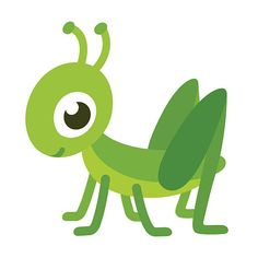 Illustration about Cute smiling grasshopper, cartoon vector illustration. Illustration of drawing, childish, modern - 67867323 Painting Activities, Animal Activities, Cartoon Mignon, Shadow Theatre, Jr Art, Insect Art, Colouring Pages, Coloring, Free Vector Art