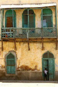 Ottoman Building  In Massawa, Eritrea