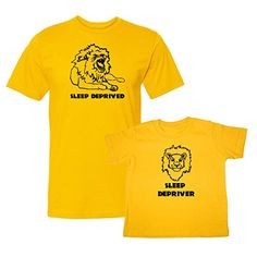 We Match! Sleep Deprived & Sleep Depriver (Lions) Matching Adult T-Shirt & Child T-Shirt Set (6M T-Shirt, Adult T-Shirt 2XL, Gold) We Match! http://www.amazon.com/dp/B01590VQ3K/ref=cm_sw_r_pi_dp_Telcwb042D2AZ