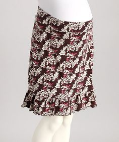 This stretchy skirt will add a playful pop of femininity to any ensemble. With a flirty, ruffled hem, a sweet floral pattern and an elasticized waistband, this pretty piece offers the perfect fit. Maternity Wear, Maternity Skirts, That Look, Take That, Perfect Fit, Ideias Fashion, Sequin Skirt, Feminine, Brown