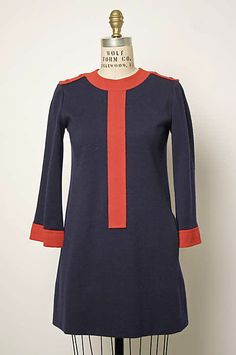 Dress  Yves Saint Laurent, Paris (French, founded 1962)  Designer: Yves Saint Laurent (French (born Algeria) Oran 1936–2008 Paris) Secondary Line: Yves Saint Laurent Rive Gauche (French, founded 1966) Date: 1966–68 Culture: French Medium: wool