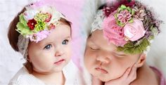 These Large fancy Lace shabby lace headbands are BACK and ready for summer! They are a perfect addition to your baby or toddlers accessory collection! I have added around 20 new choices and there is certainly something for EVERYONE! Each shabby flower bow is embellished with a small satin flower, pearls or other sweet additions. Each bow is attached to an alligator clip. This allows you to remove the clip from the headband and mix and match each clip with other colors of headbands to create…