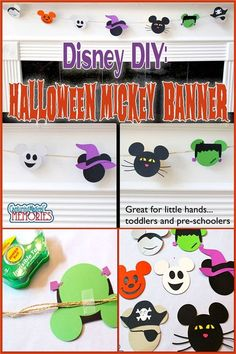 Disney DIY Halloween Mickey Head Banner http://www.capturingmagicalmemories.com/halloween-disney-banner/