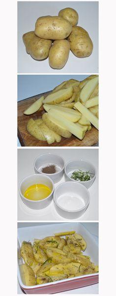 Na cozinha: Batatas rústicas / Índice feminino