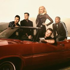 Season 7 The Voice coaches Gwen Stefani, Pharrell, Blake Shelton and Adam Levine and host Carson Daly in new promo photo. Season 7 premieres September 22 at 8 PM on NBC.
