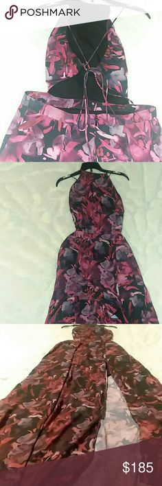 FAME AND PARTNERS wedding dress Black, Red and hint of complimentary Purple FAME AND PARTNERS Dresses Wedding