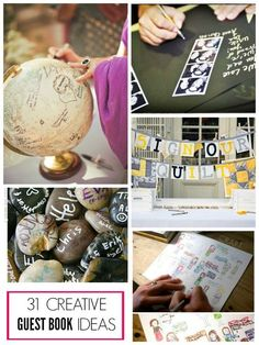Tons of unique guest book ideas to use at any party!
