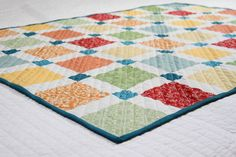 Baby Quilt using disappearing 9 patch method - Blog - homeandawaywithlisa