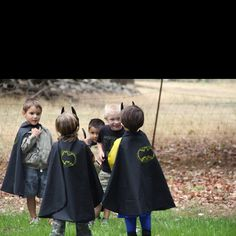 Batman birthday party capes, oh gosh how cute!!!