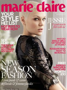 Jessie is the star of  Marie Claire UK cover Septiembre 2013