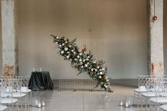 Photo Credit: Sara Monika Photographer | Planner: As You Wish Weddings | Floral: Blooms and Flora | Decor: Simply Beautiful Decor | Venue: The Symes Floral Wedding, Fall Wedding, Wedding Ceremony, Ceremony Backdrop, Simply Beautiful, Photo Credit, Backdrops, Bloom, Christmas Tree