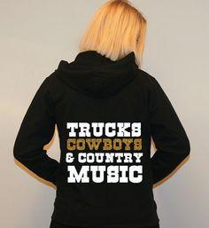 Womens Workout Hoodie. Country Music. Gym Hoodie. Workout Hoodie. Trucks Cowboys and Country Music. Hoodie Jacket. Sweatshirt. Hoodie. on Etsy, $28.00