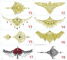 Sternum tattoo drawings