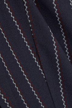 GANNI - Oakwood Striped Twill Jumpsuit - Midnight blue - DK