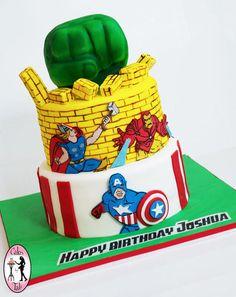 Avengers Cake Comics style