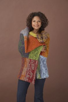 Ravelry: Multi-Hued Afghan #70143AD pattern by Lion Brand Yarn
