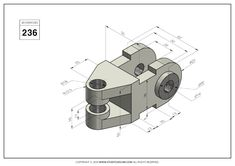 Autocad Isometric Drawing, Isometric Drawing Exercises, Orthographic Drawing, Orthographic Projection, Cad 3d, Metal Lathe Projects, Welding And Fabrication, 3d Drawings, Mechanical Design