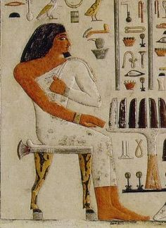 Prince Wep-em-nefret, 4th Dynasty, reign of Khufu, Painted limestone Source of photograph: Artchive