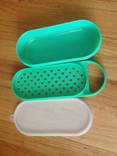 Vintage Tupperware Jadeite grater with container and clear lid for grating, shredding, storing by EvelynsCornerCabinet, $9.50