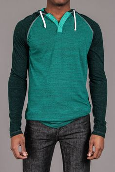 Hooded Henley - US Blanks - Shirts : JackThreads