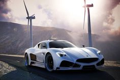 2013 7.0-liter V8 Mazzanti Evantra, which billows out a kidney-crushing 700 horsepower and 624 lb-ft of torque. 0-62mph in just 3.2 seconds.