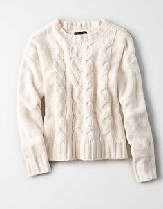 43b28a79acf1b1 AE Impossibly Soft Cable Knit Sweater - Pink Sweater