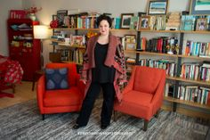 Me and my books. Photo by Amanda Stevenson for the... | Julia Fierro {writer}