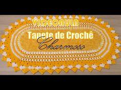 "Tapete de Crochê - Charmoso ""Diandra Schmidt Rosa"" - YouTube"