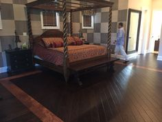 I love this bed.Our beautiful in-stock hand scraped toast wood floor. Get yours today. Family Events, Wood Floor, Outdoor Furniture, Outdoor Decor, House Tours, My House, Toast, Flooring, Bed