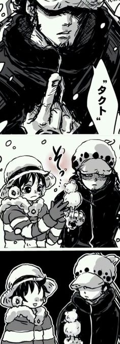 law vs luffy, the cuteness factor XD