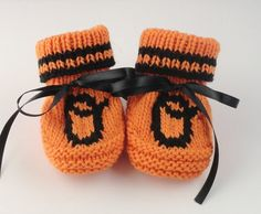 Baltimore Orioles Inspired Baby Booties Hand by BabywearbyBabs