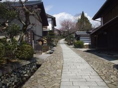 Magome-juku was the forty-third of the sixty-nine stations of the Nakasendō, an ancient road that connected Kyoto and Edo during the Edo period. This well-preserved section of the old route is in the present-day city of Nakatsugawa, Gifu Prefecture, Japan.