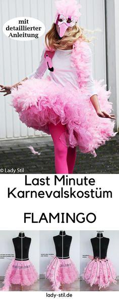 Last Minute Karnevalskostüm Flamingo mit ausführlicher Anleitung, Federboa https://lady-stil.de