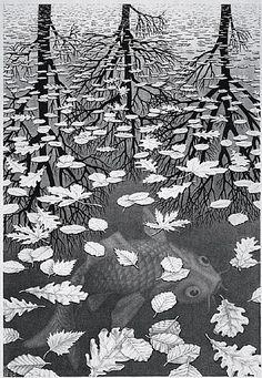 artnet Galleries: Three Worlds, December by M. C. Escher from M.C. Escher Gallery