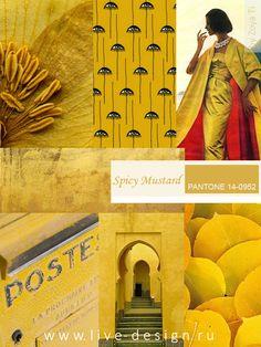 Spicy Mustard / Острая Горчица модный цвет Pantone сезона осень-зима 2016