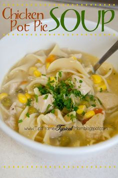 Tips from a Typical Mom: 5 Ingredient Crockpot Chicken Pot Pie Soup Recipe