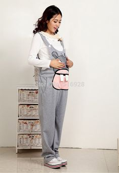 Gravida Jumpsuit Maternity Pants Clothes For Pregnant Women Overalls Roupa Gestante Trousers Autumn Winter Pregnancy Fashion