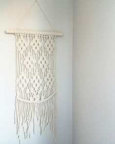Happy Friday and happy International Women's Day. I wanted to share with you the latest arts & crafts project I made last weekend. Happy International Women's Day, Condo Living, Happy Friday, Macrame, Craft Projects, Arts And Crafts, Wall, Inspiration, Biblical Inspiration