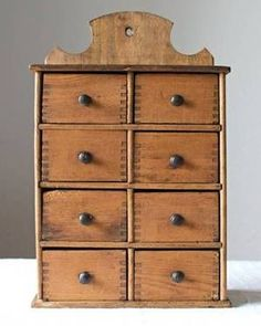 Primitive Spice Cabinet Apothecary - Early American Antique for Sale in Seattle, Washington Classified | AmericanListed.com