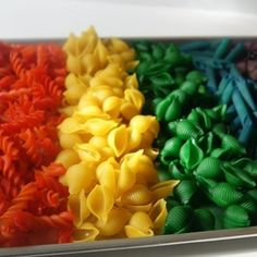 Flavored, Colorful pasta