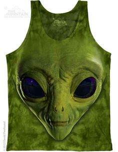 The Mountain - Green Alien Face Mens Tank Top, $24.00 (http://shop.themountain.me/green-alien-face-mens-tank-top/)