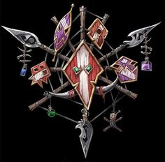Warcraft - Troll Crest. Gonna get this as a tattoo some day.