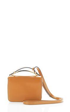 Mini Sculpture Shoulder Bag in Luggage by Marni for Preorder on Moda Operandi